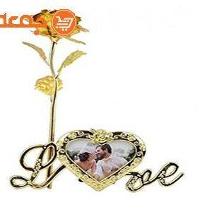 گل رز طلا قاب عکس دار