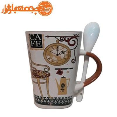 لیوان قهوه خوری قاشق دار