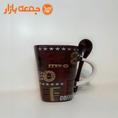 لیوان قهوه قاشق دار