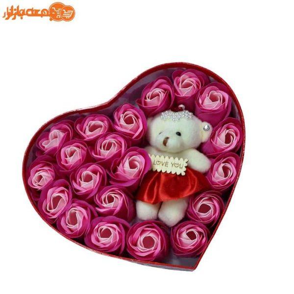 پکیج گل صابونی عروسک دار