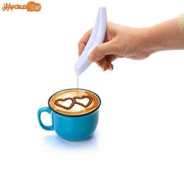 قلم طراحی قهوه و دسر مدل پرنده