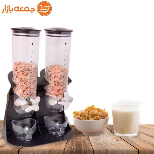 جا حبوباتی شیردار دوقلو رومیزی مناسب برای انواع حبوبات جمعه بازار