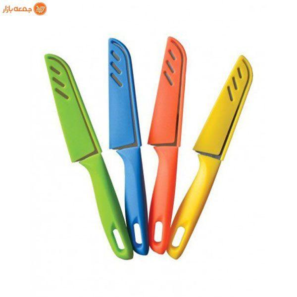 چاقو آشپزخانه غلاف دار رنگی