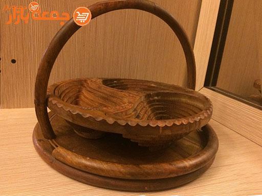 ظرف آجیل خوری چوبی تاشو