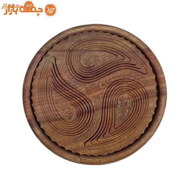 ظرف پذیرایی چوبی تاشو بته جقه