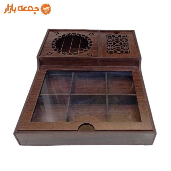 جعبه تی بگ چوبی وارمردار