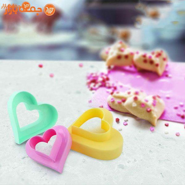 قالب شیرینی قلبی سه عددی