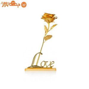 گل رز طلا با پایه لاو