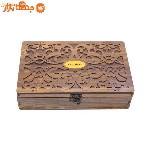 جعبه تی بگ و تنقلات چوبی