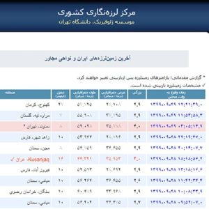 زلزله 4 ریشتری تهران را لرزاند