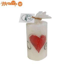 شمع استوانه ای قلب