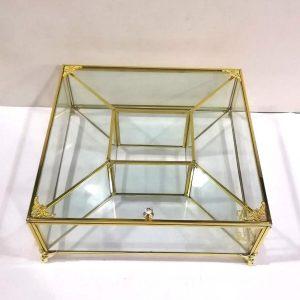 باکس شیشه ای 5 خانه تی بگ و تنقلات