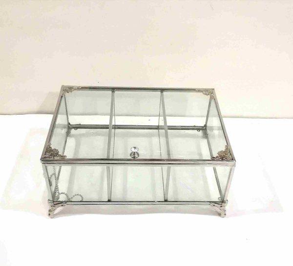باکس شیشه ای 3 خانه تی بگ و تنقلات مرمر